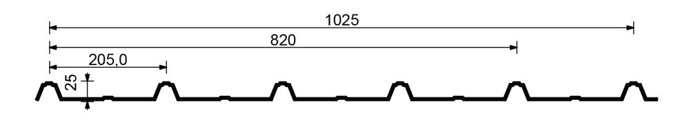 Tabla cutata 25-205-820-1025